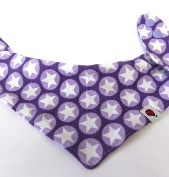 Kinder Dreieckstuch mit Sternen lila